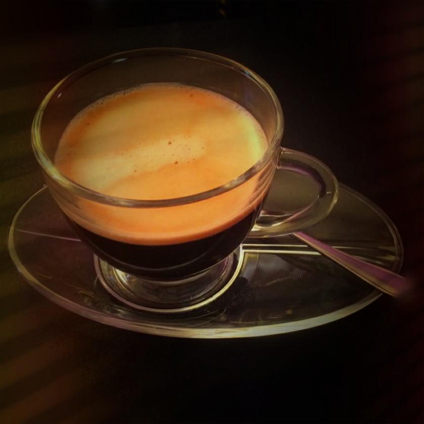 Glastasse für Kaffee